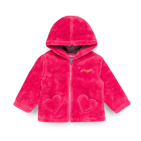 Pineapple - Pineapple babies dark pink fleece jacket