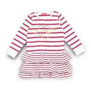 Pineapple babies pink striped frill dress