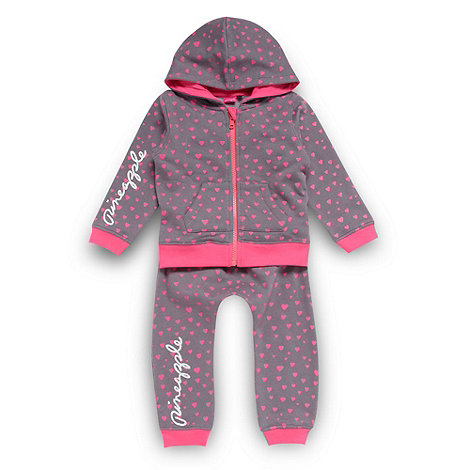 Pineapple - Girl+s pink heart jogging set