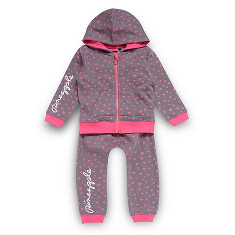 Pineapple - Girl+s pink heart jogging set