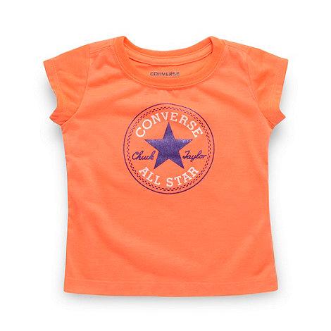 Converse - Babies orange logo t-shirt