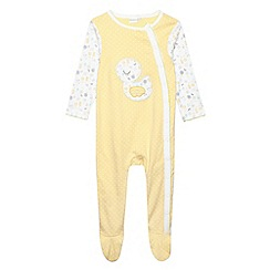 bluezoo - Babies yellow floral duck sleepsuit
