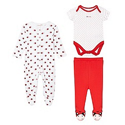 bluezoo - Babies red ladybird printed four piece set