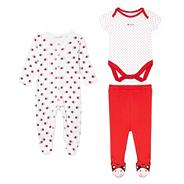 Babies red ladybird printed four piece set
