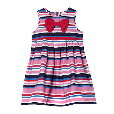 bluezoo - Babies pink bright striped dress