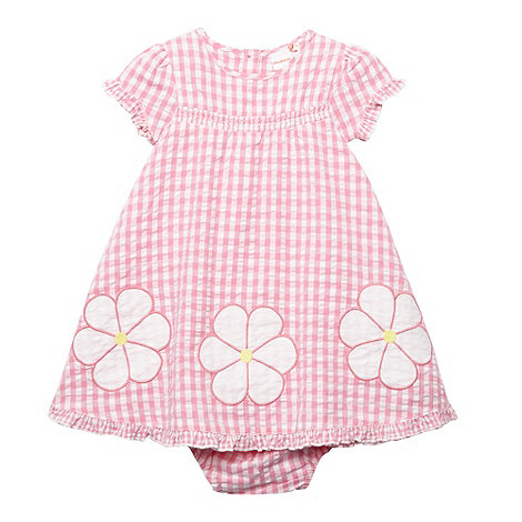 bluezoo - Babies pink applique gingham dress