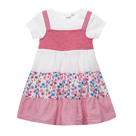 bluezoo - Babies pink mix and match pinafore and dress