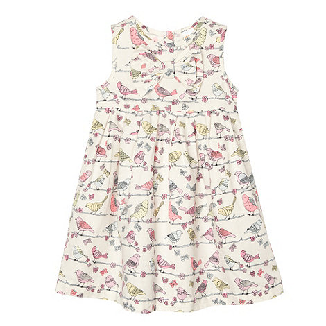 bluezoo - Babies pink bird print dress