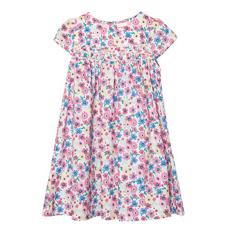 bluezoo - Babies pink pastel floral dress and headband