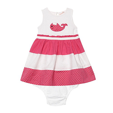 bluezoo - Girl's pink whale dress