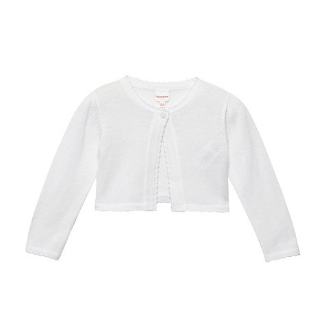 bluezoo - Babies white cropped cardigan