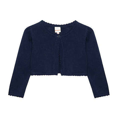 bluezoo - Babies navy cropped cardigan