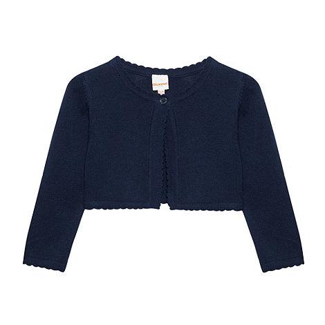 bluezoo - Babies navy cropped cardigan