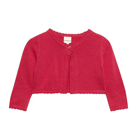 bluezoo - Babies dark pink cropped cardigan