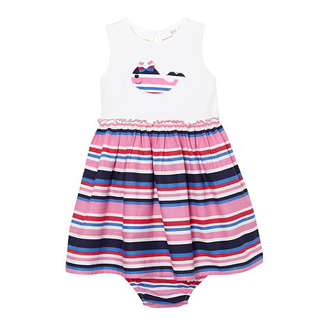 bluezoo - Babies navy striped whale dress