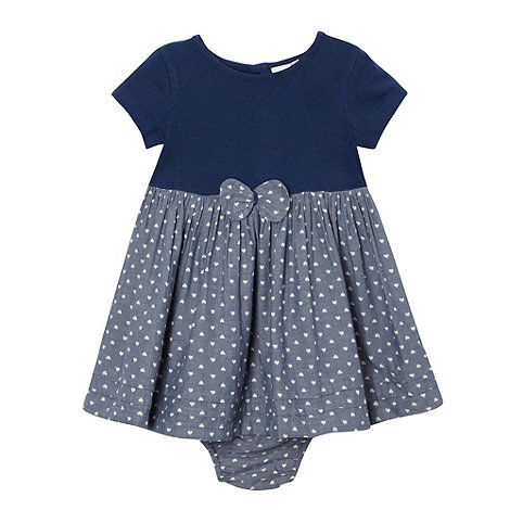 bluezoo - Babies navy heart print dress