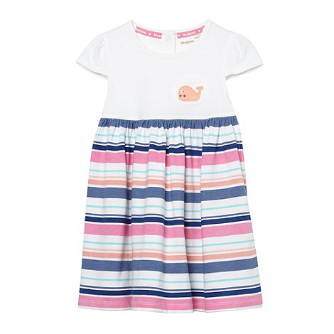 bluezoo - Babies white striped whale jersey dress