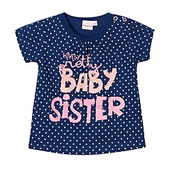 bluezoo - Babies navy 'Baby Sister' t-shirt