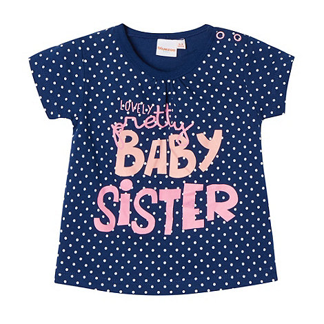 bluezoo - Babies navy +Baby Sister+ t-shirt