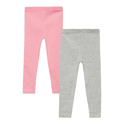 bluezoo - Pack of two babies pink and grey leggings