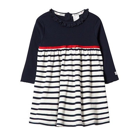 J by Jasper Conran - Designer babies navy striped nautical dress