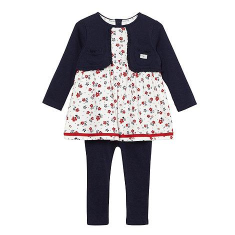 J by Jasper Conran - Designer babies mock tunic and cardigan with leggings