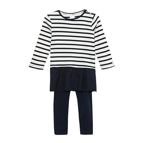 J by Jasper Conran - Designer babies navy striped tunic and leggings