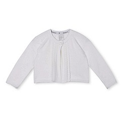 J by Jasper Conran - Designer babies white scalloped edge cardigan