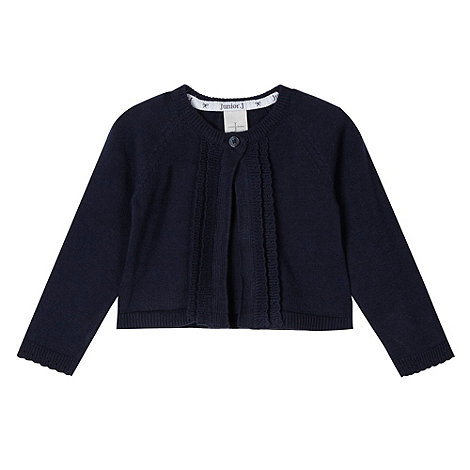 J by Jasper Conran - Designer babies navy scalloped edge cardigan