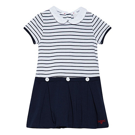 J by Jasper Conran - Designer babies navy striped A-line dress