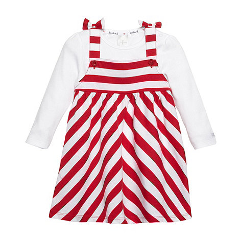 J by Jasper Conran - Designer babies red striped dress and top set