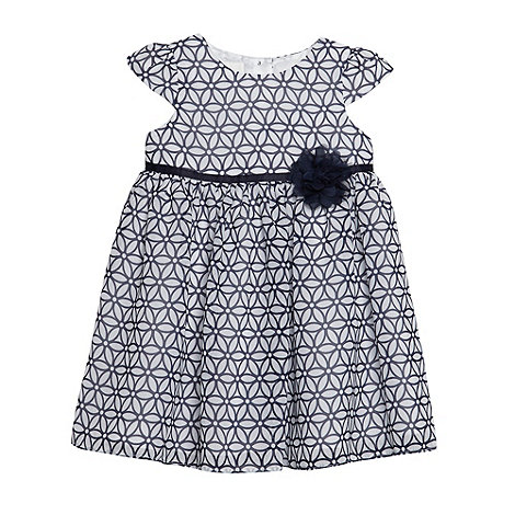 J by Jasper Conran - Designer babies navy floral pattern chiffon dress
