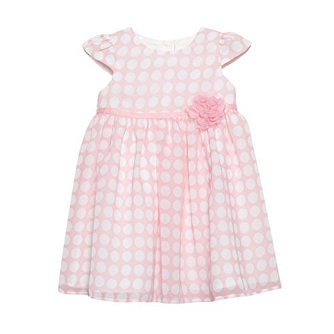J by Jasper Conran - Designer babies pink spotted corsage dress