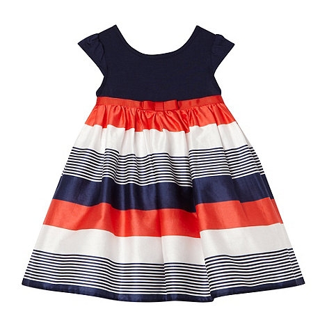 J by Jasper Conran - Designer babies navy multi striped dress