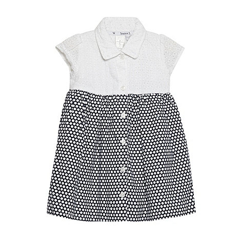 J by Jasper Conran - Designer babies white broderie spot dress