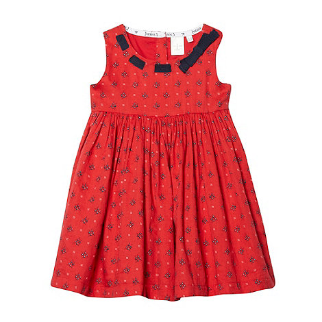 J by Jasper Conran - Designer babies red mini floral dress