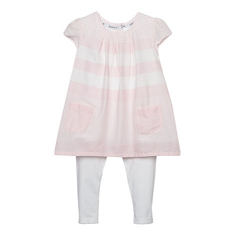 J by Jasper Conran - Designer babies pink striped tunic and leggings set