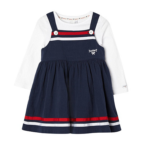 J by Jasper Conran - Designer babies navy pinafore and top set