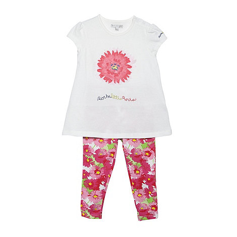 RJR.John Rocha - Designer babies pink applique flower tunic and leggings set