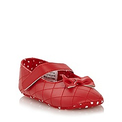 J by Jasper Conran - Designer babies red quilted booties
