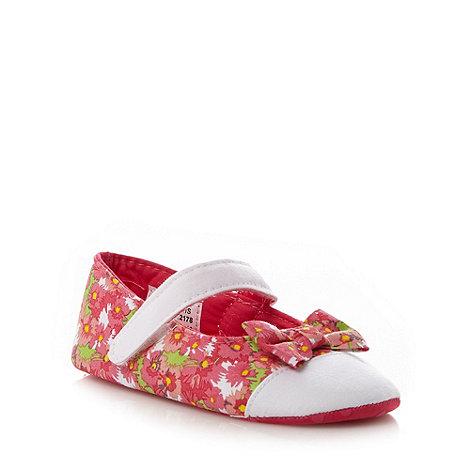 RJR.John Rocha - Designer babies pink floral bow booties