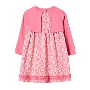 Designer babies pink 2-in-1 dress and cardigan