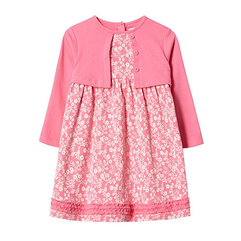 RJR.John Rocha - Designer babies pink 2-in-1 dress and cardigan