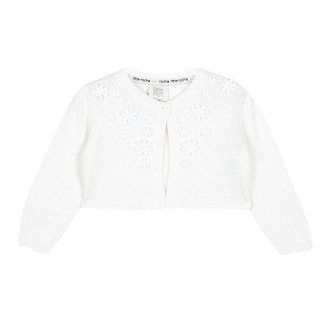RJR.John Rocha - Designer babies white applique flower cardigan