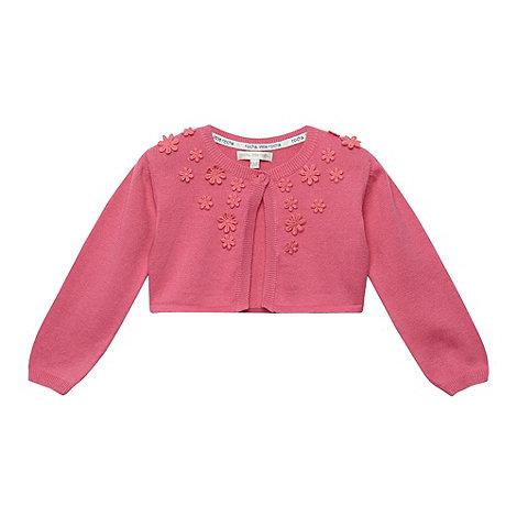 RJR.John Rocha - Designer babies pink applique flower cardigan