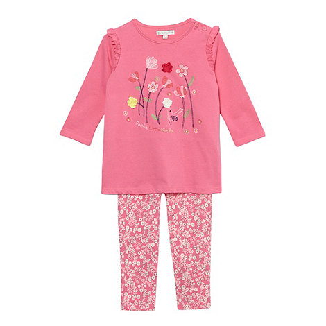 RJR.John Rocha - Designer babies pink applique flower top and leggings set