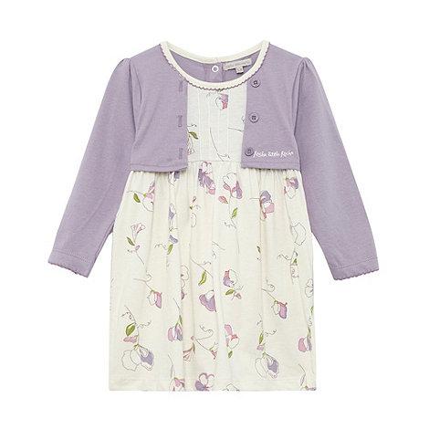 RJR.John Rocha - Designer babies soft lilac floral 2 in 1 dress