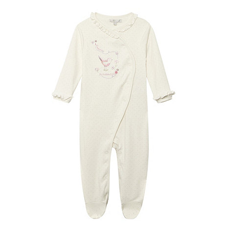 RJR.John Rocha - Designer babies cream +sweetpea+ romper suit