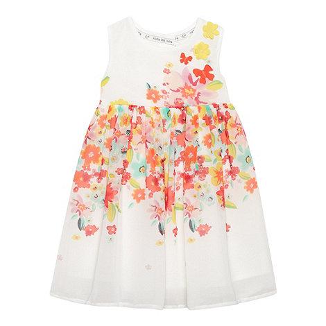 RJR.John Rocha - Designer babies white floral chiffon dress