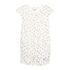 RJR.John Rocha - Babies off white bird sleepsuit